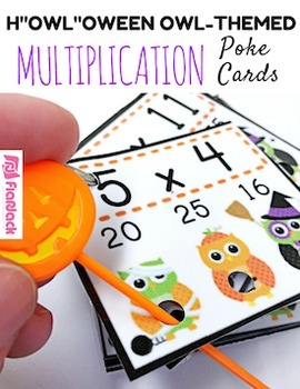 "H""OWL""oween Owl Poke MATH FACTS Bundle"