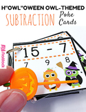 """H""""OWL""""oween Owl Poke Subtraction Facts 1-9"""