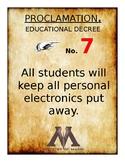 HP Educational Proclamations