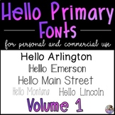 HP Fonts Volume 1