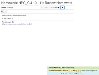 HPC: CU 10 & 11: Review: Conic Sections and Limits