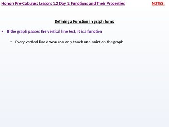 HPC: CU 1A: 1.2 Day 1: Functions and their Properties