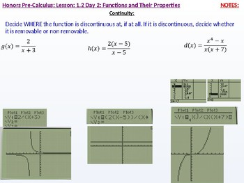 HPC: CU 1A: 1.2 day 2: Functions and their Properties