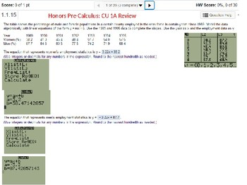 HPC: CU 1A: Review: Functions, Inverses and Modeling