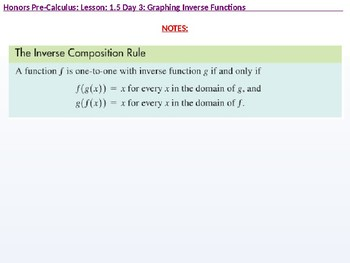 HPC: CU 1B: 1.5 Day 3: Parametric Relations and Inverses