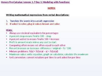 HPC: CU 1B: 1.7 Day 1: Modeling with Functions