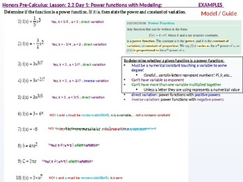 HPC: CU 2A: 2.2 Day 1: Power Functions with Modeling