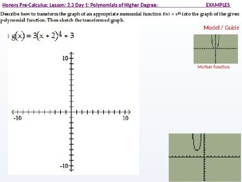 HPC: CU 2A: 2.3 Day 1: Polynomial Functions of Higher Degree with Modeling