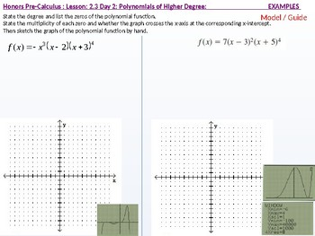 HPC: CU 2A: 2.3 Day 2: Polynomial Functions of Higher Degree with Modeling