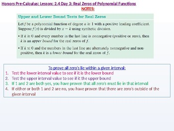 HPC: CU 2A: 2.4 Day 3: Real Zeros of Polynomial Functions