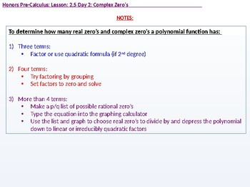 HPC: CU 2B: 2.5 Day 2: Complex Zeros and the Fundamental Theorem of Algebra