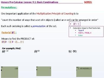 HPC: CU 2B: 9.1: Basic Combinations