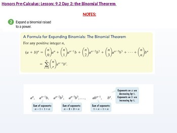 HPC: CU 2B: 9.2 Day 2: The Binomial Theorem