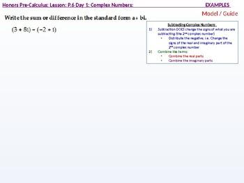 HPC: CU 2B: P.6 Day 1: Complex Numbers
