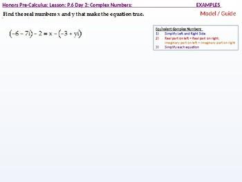 HPC: CU 2B: P.6 Day 2: Complex Numbers