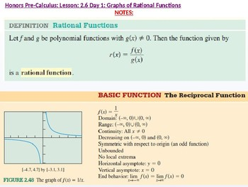 HPC: CU 3: 2.6 Day 1: Graphs of Rational Functions