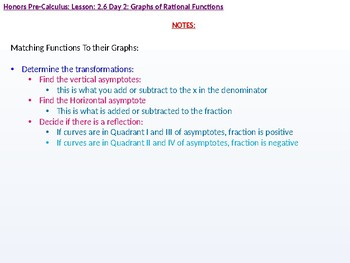 HPC: CU 3: 2.6 Day 2: Graphs of Rational Functions