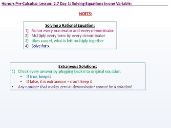 HPC: CU 3: 2.7 Day 1: Solving Equations in one Variable