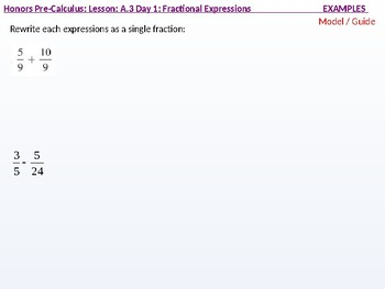 HPC: CU 3: A.3 Day 1: Fractional Expressions