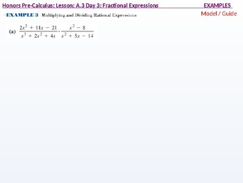 HPC: CU 3: A.3 Day 3: Fractional Expressions