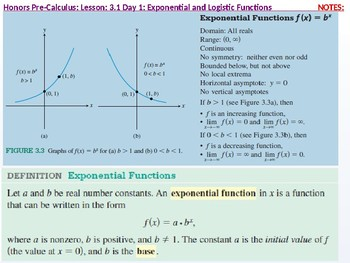 HPC: CU 4A: 3.1 Day 1: Exponential and Logistic functions