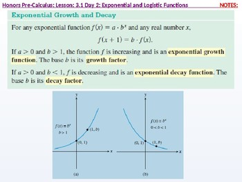 HPC: CU 4A: 3.1 Day 2: Exponential and Logistic functions
