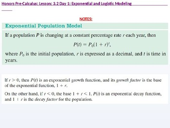 HPC: CU 4A: 3.2 Day 1: Exponential and Logistic Modeling
