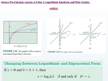 HPC: CU 4A: 3.3 Day 1: Logarithmic Functions and their Graphs