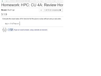 HPC: CU 4A: Review: Exponential and Logarithmic Functions