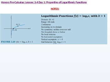 HPC: CU 4B: 3.4 Day 1: Properties of Logarithmic Functions