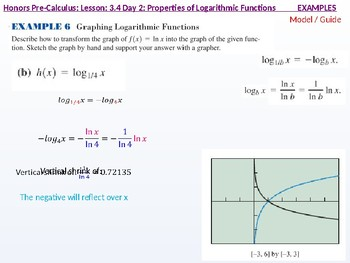 HPC: CU 4B: 3.4 Day 2: Properties of Logarithmic Functions