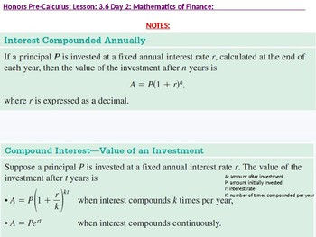 HPC: CU 4B: 3.6 Day 2: Mathematics of Finance