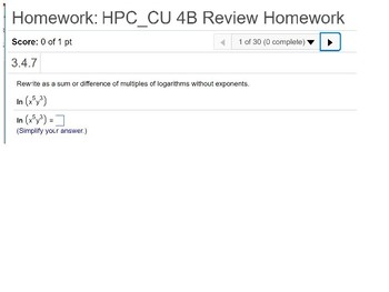 HPC: CU 4B: Review: Exponential and Logarithmic Functions