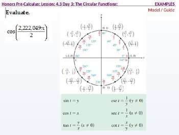 HPC: CU 5: 4.3 Day 3: Trigonometry Extended: the Circular Functions