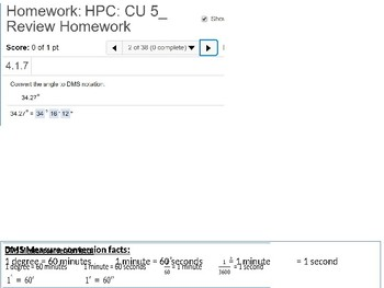 HPC: CU 5: Review: Trigonometric Functions and the Unit Circle