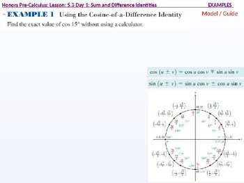 HPC: CU 7A: 5.3 Day 1: Sum and difference Identities