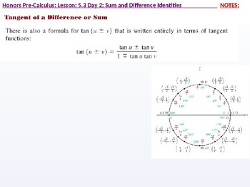 HPC: CU 7A: 5.3 Day 2: Sum and Difference Identities