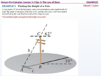 HPC: CU  7B: 5.5 Day 2: The Law of Sines