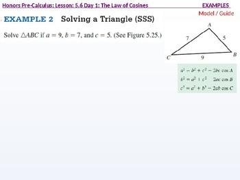 HPC: CU 7B: 5.6 Day 1: The Law of Cosines