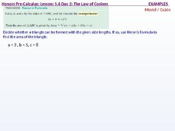 HPC: CU 7B: 5.6 Day 2: The Law of Cosines