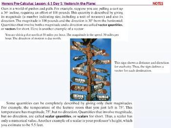 HPC: CU 8: 6.1 Day 1: Vectors in the Plane