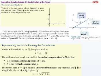HPC: CU 8: 6.1 Day 2: Vectors in the Plane