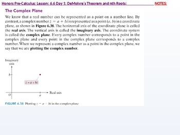 HPC: CU 9: 6.6 Day 1: DeMoivre's Theorem and nth Roots
