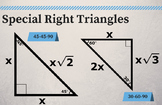 "HQ Special Right Triangles - Classroom Poster 11"" x 17"""