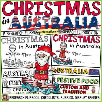 CHRISTMAS IN AUSTRALIA INFORMATIONAL REPORT WRITING RESEARCH FLIPBOOK