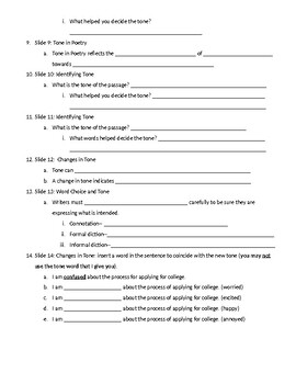 HRW Tone Level Up worksheet by Kathleen Boyle | Teachers ...