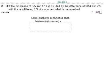 Domains of HS ALGEBRA UNIT: GIFTED/CHALLENGING topics (4 worksheets; 7 quizzes