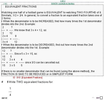 HS [Remedial] Applied Math I UNIT 2: Ratios;Proportion (4