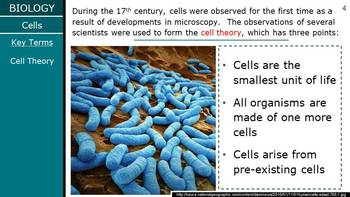 HS Biology - Cells - Intro to Cells PPT