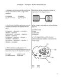 High School Biology Exam - Transport, Diffusion, & Osmosis